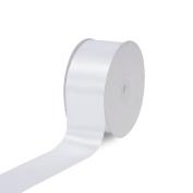 Creative Ideas, 5.1cm Inch single Face Satin Ribbon, 50 yd, White