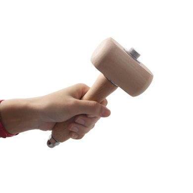 Co-link Beech Wood Carving Mallet Leathercraft Punch Hammer The Well-Balanced Beechwood Woodworking Mallet