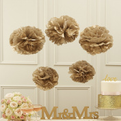Sorive® Tan Tissue Paper Pom Poms Party & Wedding Decorations - Pastel Perfection