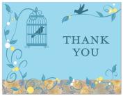 50 Romantic Bird Cage Vines Flourish Thank You Cards