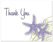 50 Starfish Beach Wedding Shower Thank You Cards
