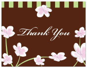 50 Plumeria Whimsy Floral Thank You Cards