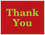 50 Modern Contemporary Red Thank You Cards