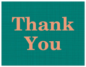 50 Modern Contemporary Teal Thank You Cards