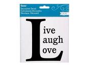Darice® Decorative Decal - Black - Live, Laugh, Love - 15cm X 15cm - 1 Piece