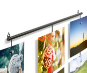 Wall Mount Hanging Photo Organiser Holder Cable Set With Magnets , Great for DIY Piture Frame