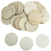25 Plain Wooden Circle Round Shape Craft Tags Plaques Decorative 100mm by KurtzyTM