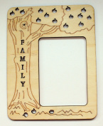Cardinal Arts & Craft Unfinished 4x6 Laser Cut Family Frame, Set of 4