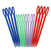 Funnytoday365 Fashion Cute Colourful Plastic Sewing Needles 16Picks