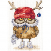 Ready For The New Year Counted Cross Stitch Kit-15cm x 16cm 14 Count