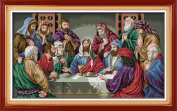 YEESAM ART® New Cross Stitch Kits Advanced Patterns for Beginners Kids Adults - Last Supper 11 CT Stamped 77×47 cm - DIY Needlework Wedding Christmas Gifts