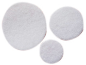 YYCRAFT Pack Of 300 Pieces White Hard Felt Circle Applique-3 Sizes