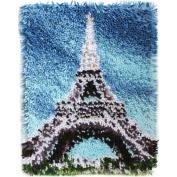 Wonderart Eiffel Tower Latch Hook Kit, 38cm x 50cm