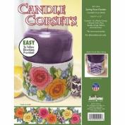 21-1824 Candle Corsets Spring Rose Garden Plastic Canvas Kit - 28cm x 6.4cm ., 14 Count