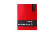 Zequenz Classic 360 Soft Bound Journal/ Writing Notebook Red Lite Large 19cm x 25cm 100 sheets/200 pages Grid Pattern