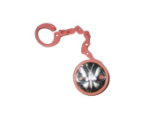 Silver Touch USA Sterling Silver Baby Pacifier Holder Clip with Leash, Pink Butterfly