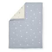 Koala Baby Boys Tossed Star Heather Jacquard Knit Blanket - Blue