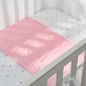 Soft, Plush, Pink Mist Wick-Dry Plush Sheet Saver, 70cm x 36cm