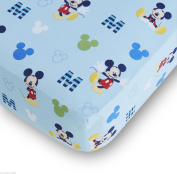 Mickey Mouse Fitted Crib Sheet Baby Boy Bedding Shower Gift Disney Room D.cor