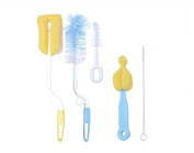 Bottle & Tube Brush, Bestga Baby Feeding Rotary Spinning Bottle Nipple Cleaning Brushes Set of 5 for Cleaning Baby Bottle, Drinking Straws and Glasses, Keyboards, Jewellery and etc.