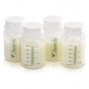 120ml, BPA Free, Polypropylene Milk Storage Bottles, 4 Pack