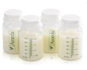 Ameda 4 Pack Breast Milk Storage Bottles, 120ml