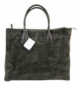 Brunello cucinelli Luxurious Grey Suede Leather Handbad Purse