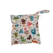 Waterproof Reusable Zipper Baby Cloth Nappy Wet Dry Bag Swimer Tote Animal Pattern