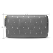 Womens Arrow Leather Long Wallet Zippered Purse Case with Card Holder