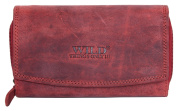 Women's Natural Strong Dark Red Genuine Leather Wallet Wild things only