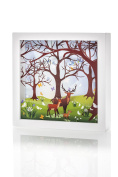 Marmelada Forest Family Story In a Frame Nightlight Baby Nursery Room Décor Lamp