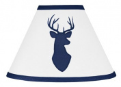 Sweet Jojo Designs Navy Blue and White Woodland Deer Boys Baby Childrens Lamp Shade