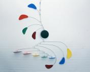 Hanging Mobile / Rainbow Mobile / Kinetic Sculpture / Baby Mobile / Handmade USA / Calder Inspired