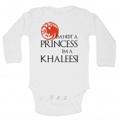 "Cute Game of Thrones Inspired Onesie ""I'm Not A Princess Im A Khaleesi"""