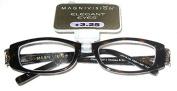 "Magnivision Elegant Eyes Readers +3.25 ""Chelsea"" Tortoise with Rhinestone Accents"