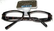 "Magnivision Elegant Eyes Readers +2.00 ""Chelsea"" Tortoise with Rhinestone Accents"