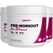Nutricost Pre-Workout Powder for Women (Strawberry Sparkle) 30 Serv