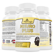 Natrogix Vitamin and Mineral Brain Formula - Neuro Plus Brain & Focus Increase Supplements, Help for Boost Memory, Mental Sharpness, Focus and Concentration Made in USA(60 Capsules).