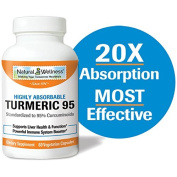 Turmeric 95, by Natural Wellness, offers a highly absorbable Turmeric and BioPerine® combination - 60 vcaps