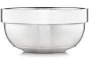 Justice Shaving Company Stainless Shaving Bowl - Brushed Steel and Mirror Polished - Dual Layer Shave Soap Bowl Maintains Warmth of Shaving Soap or Shaving Cream - Wet Shaving Bowl for Men or Women