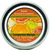 Premium 100% All Natural Soy Wax Aromatherapy Candle - 60ml Tin Tangerine Mango
