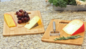 Oliva Italiana Bamboo 2 pc Cutting Board Set Eco-Friendly, 100% Organic bamboo, Professional-Grade, and won't dull your blade. Please that gourmet in your life with the best cutting board bare none.