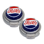 Jokari 18003P2 2 Count Pepsi Heritage Logo Soda Can Pump and Pour, Red/White/Blue