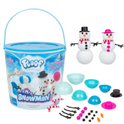 Modelling Clay - Reuseable Indoor Snow, Floof - Mr. & Mrs Snowman Set With 22 Accessories.
