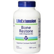 Life Extension Bone Restore with Vitamin K2, 120 vegetarian capsules Thank you for using our service