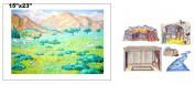 Hillside Meadow Flannel Board Cover & Overlays Scripture Stories Bible- Precut