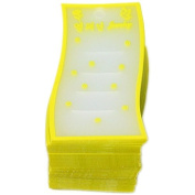 100 pcs Colourful Plastic Display Jewellery Display Cards - yellow