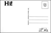 "Post-Pix Peel & Stick Photo Postcards by Romar ""Hi"""