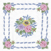 Tobin Stamped Quilt Blocks Cross Stitch Kit, 46cm by 46cm , Floral Bouquet, White, 6 Per Package