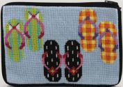 Cosmetic Purse - Flip Flops - Needlepoint Kit